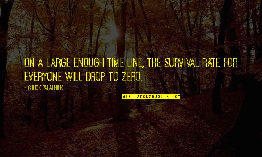 F Zero X Quotes By Chuck Palahniuk: On a large enough time line, the survival