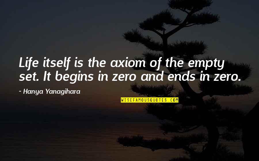 F Zero X Quotes By Hanya Yanagihara: Life itself is the axiom of the empty