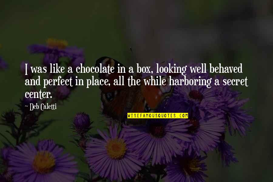 Facade Quotes By Deb Caletti: I was like a chocolate in a box,