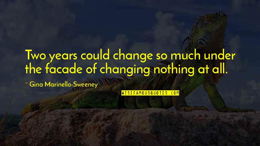 Facade Quotes By Gina Marinello-Sweeney: Two years could change so much under the