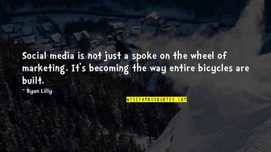 Facebook Pinterest Quotes By Ryan Lilly: Social media is not just a spoke on
