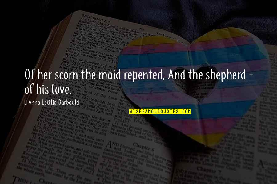 Facebook Timeline Covers Quotes By Anna Letitia Barbauld: Of her scorn the maid repented, And the