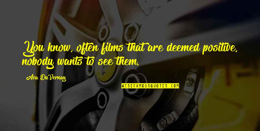 Facebook Timeline Covers Quotes By Ava DuVernay: You know, often films that are deemed positive,