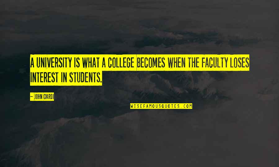Faculty Quotes By John Ciardi: A university is what a college becomes when