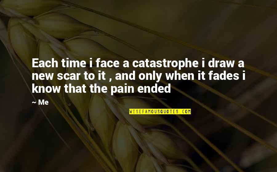 Fades Quotes By Me: Each time i face a catastrophe i draw