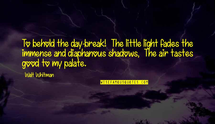 Fades Quotes By Walt Whitman: To behold the day-break! The little light fades