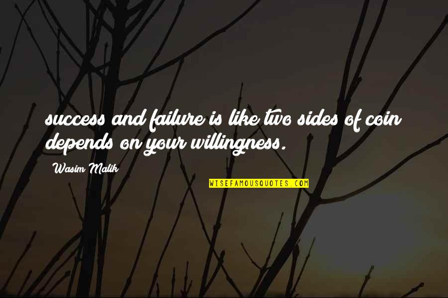 Failure And Motivational Quotes By Wasim Malik: success and failure is like two sides of