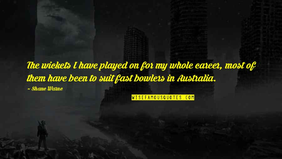 Failure Is Not Permanent Quotes By Shane Warne: The wickets I have played on for my