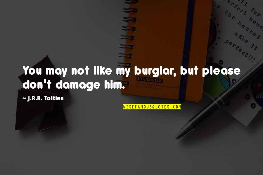 Faith During Difficult Times Quotes By J.R.R. Tolkien: You may not like my burglar, but please