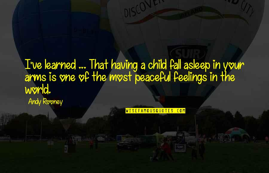 Fall Asleep In My Arms Quotes By Andy Rooney: I've learned ... That having a child fall