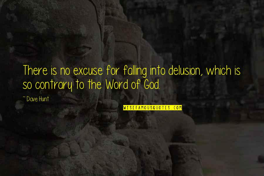 Fall Into Quotes By Dave Hunt: There is no excuse for falling into delusion,