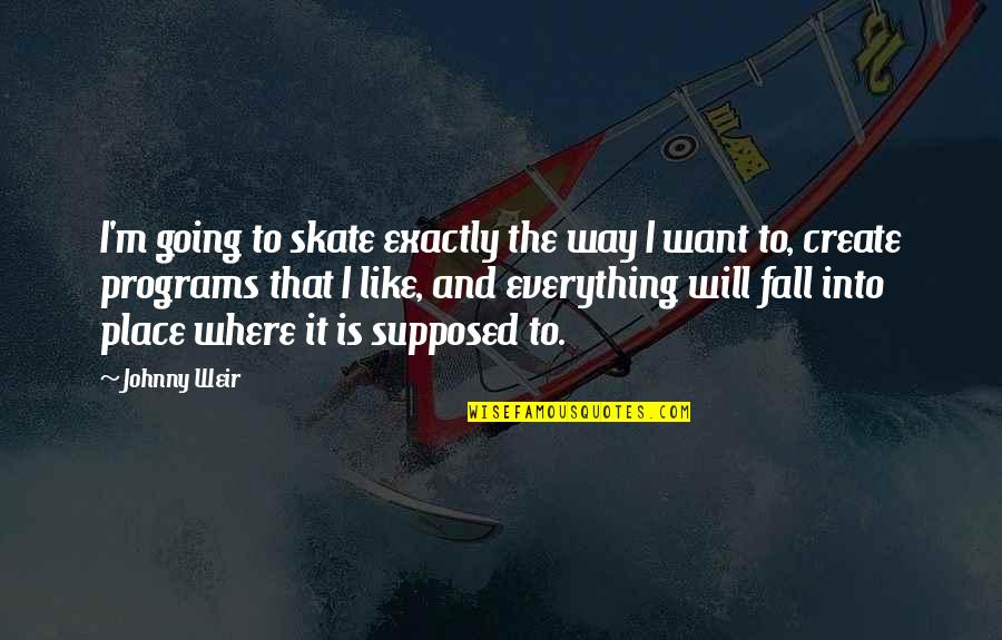 Fall Into Quotes By Johnny Weir: I'm going to skate exactly the way I
