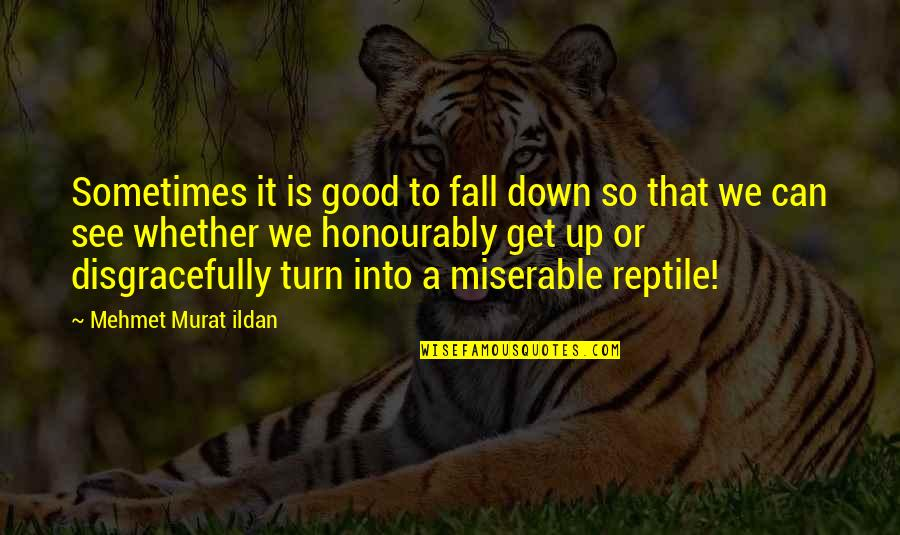 Fall Into Quotes By Mehmet Murat Ildan: Sometimes it is good to fall down so