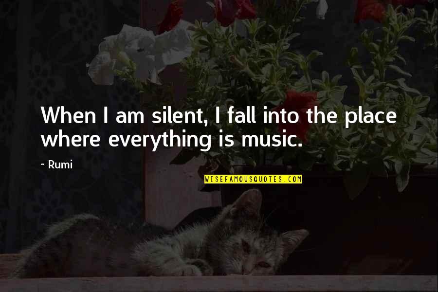 Fall Into Quotes By Rumi: When I am silent, I fall into the