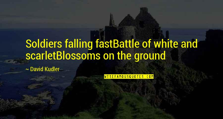 Falling For You Too Fast Quotes By David Kudler: Soldiers falling fastBattle of white and scarletBlossoms on