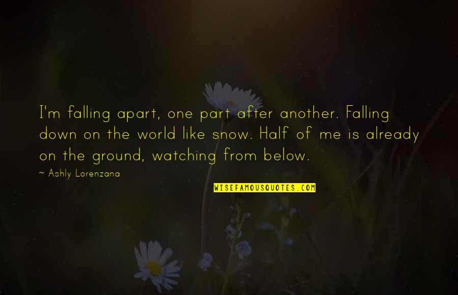 Falling On The Ground Quotes By Ashly Lorenzana: I'm falling apart, one part after another. Falling