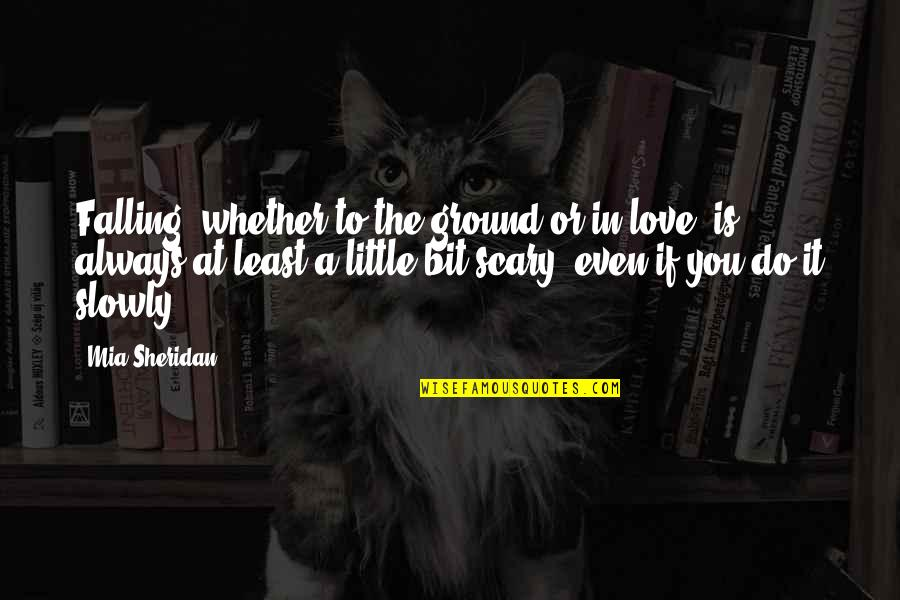 Falling On The Ground Quotes By Mia Sheridan: Falling, whether to the ground or in love,