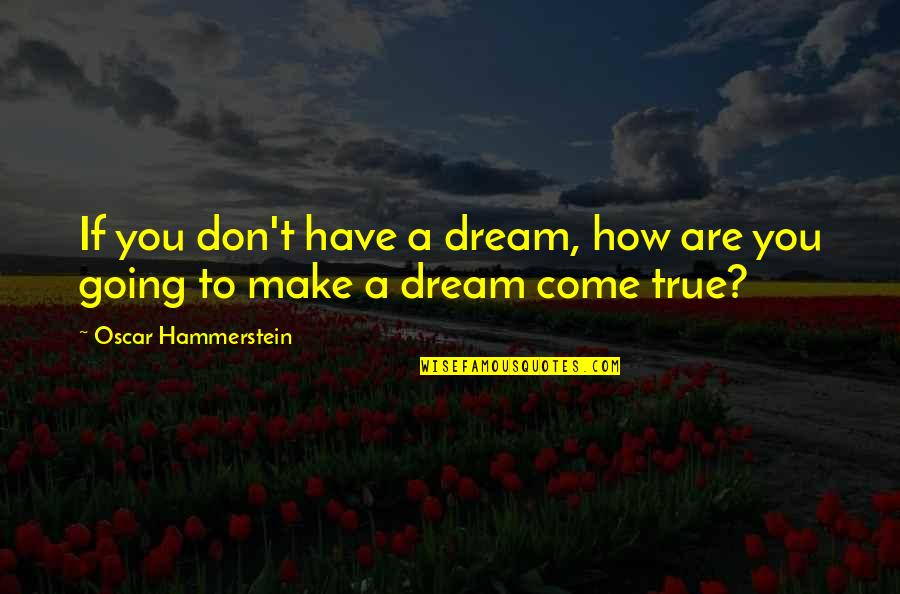 Fallout 3 Bobblehead Quotes By Oscar Hammerstein: If you don't have a dream, how are