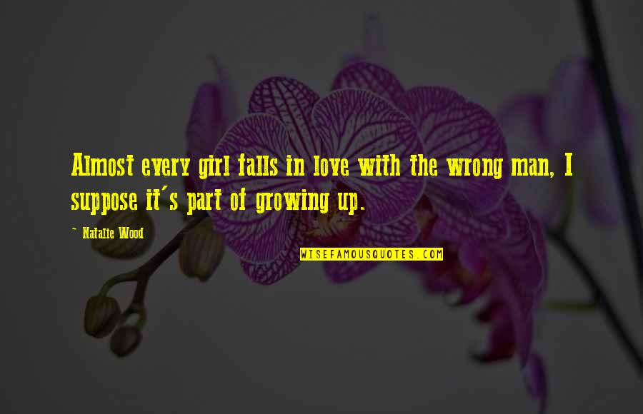 Falls In Love Quotes By Natalie Wood: Almost every girl falls in love with the