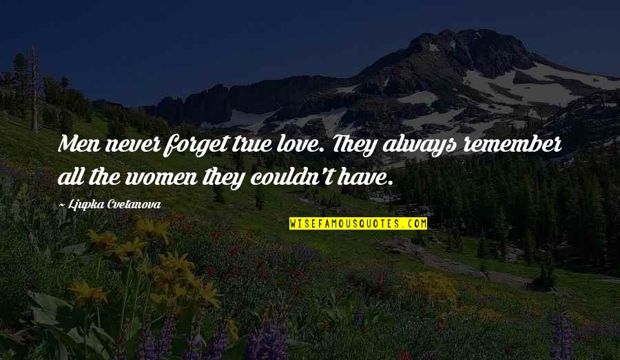 False Man Quotes By Ljupka Cvetanova: Men never forget true love. They always remember