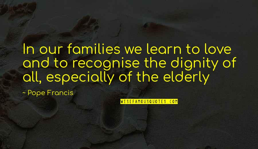 Families And Love Quotes By Pope Francis: In our families we learn to love and
