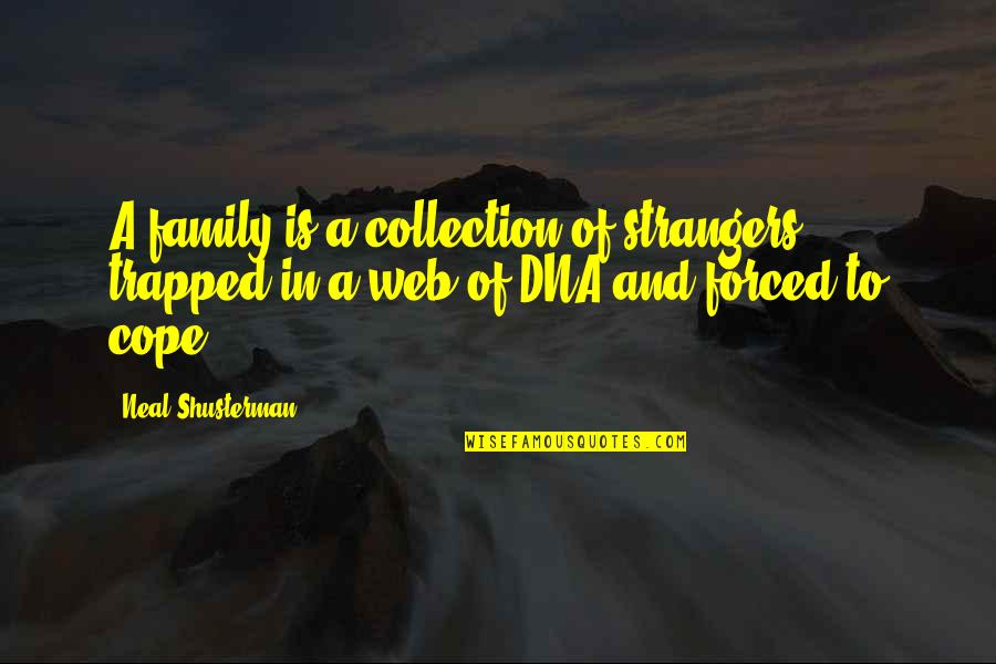 Family And Time Quotes By Neal Shusterman: A family is a collection of strangers trapped