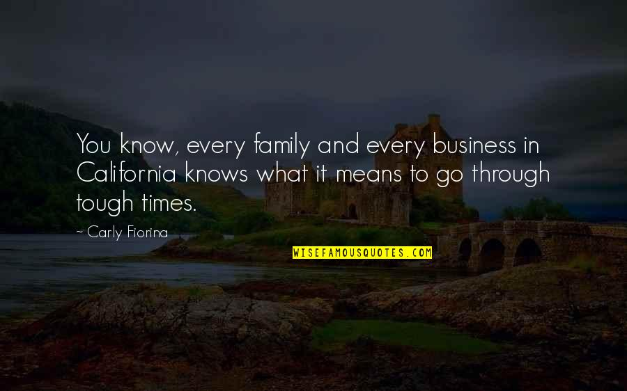 Family And Tough Times Quotes By Carly Fiorina: You know, every family and every business in