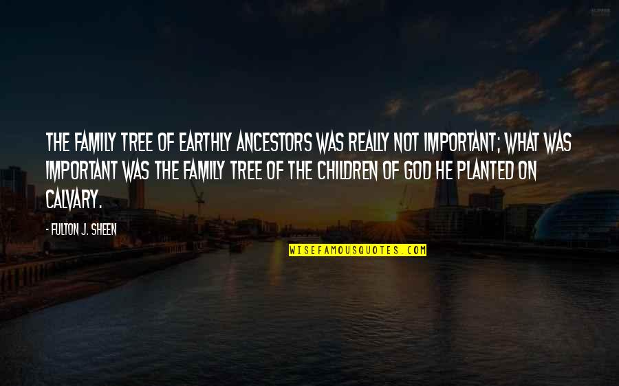 Family And Tree Quotes By Fulton J. Sheen: The family tree of earthly ancestors was really