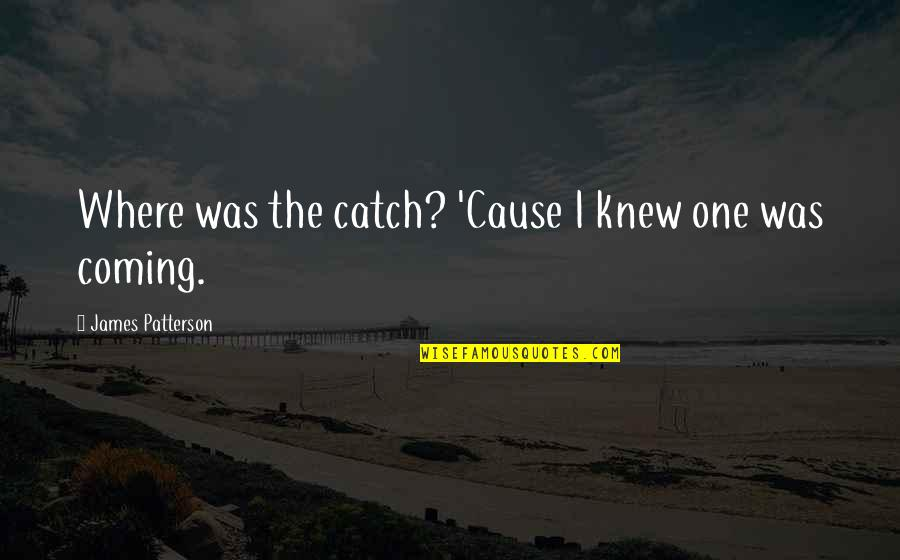 Family Branch Quotes By James Patterson: Where was the catch? 'Cause I knew one