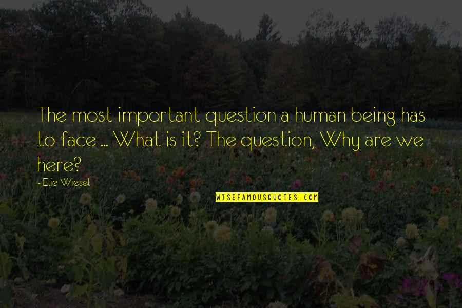 Family In The Glass Castle Quotes By Elie Wiesel: The most important question a human being has