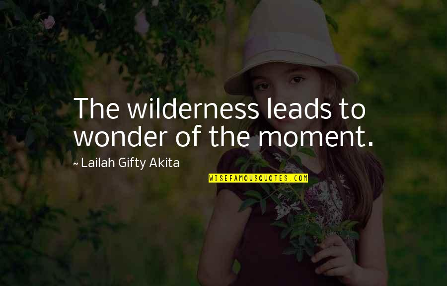 Famous Bill Phillips Quotes By Lailah Gifty Akita: The wilderness leads to wonder of the moment.