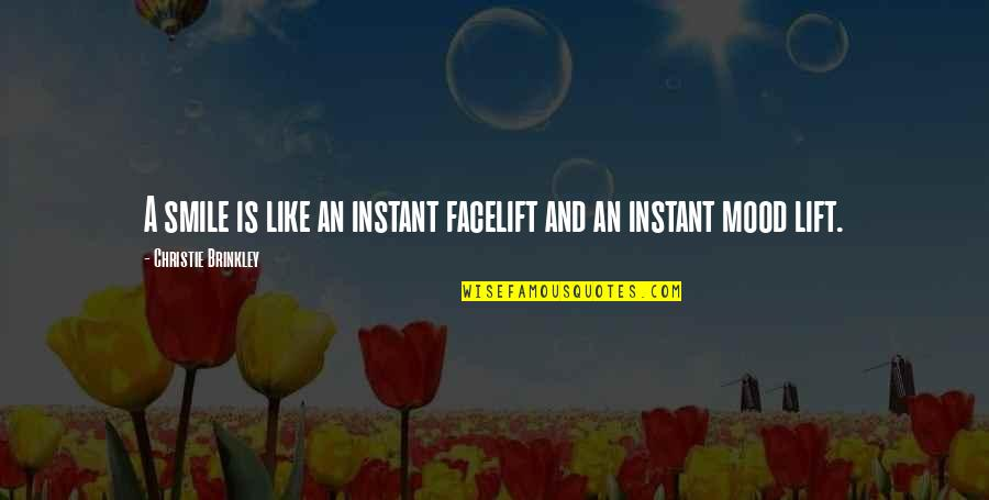 Famous Cristina Yang Quotes By Christie Brinkley: A smile is like an instant facelift and