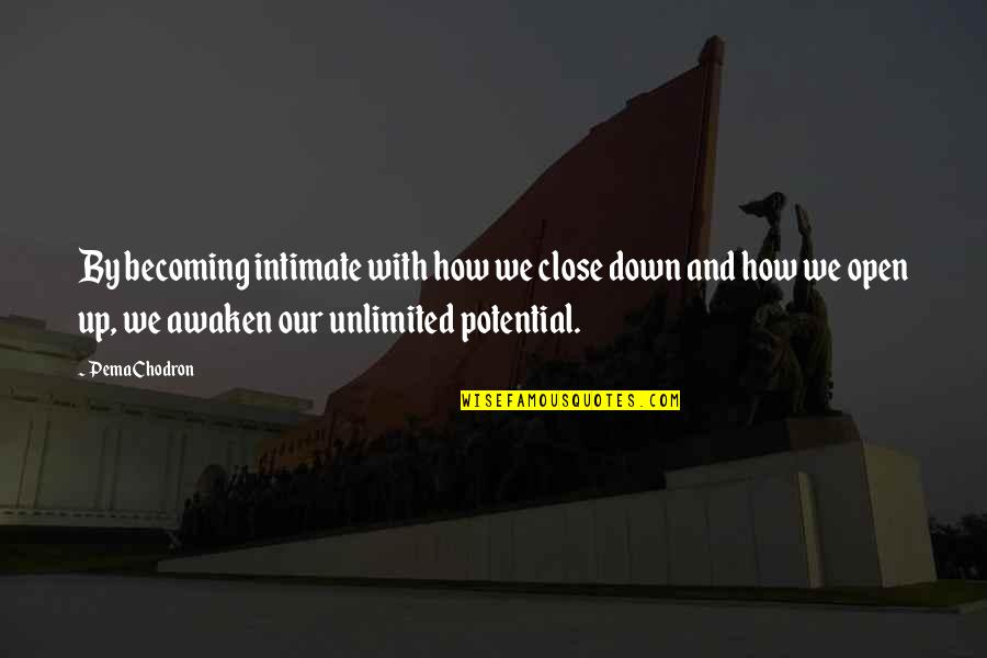 Famous Day Trading Quotes By Pema Chodron: By becoming intimate with how we close down