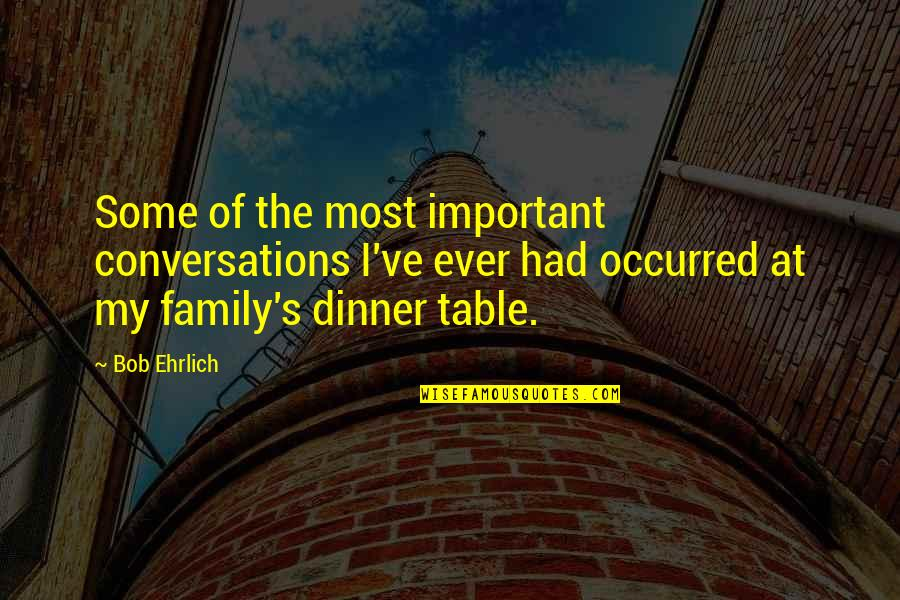 Famous Deca Quotes By Bob Ehrlich: Some of the most important conversations I've ever