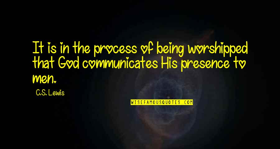 Famous Football Sayings And Quotes By C.S. Lewis: It is in the process of being worshipped