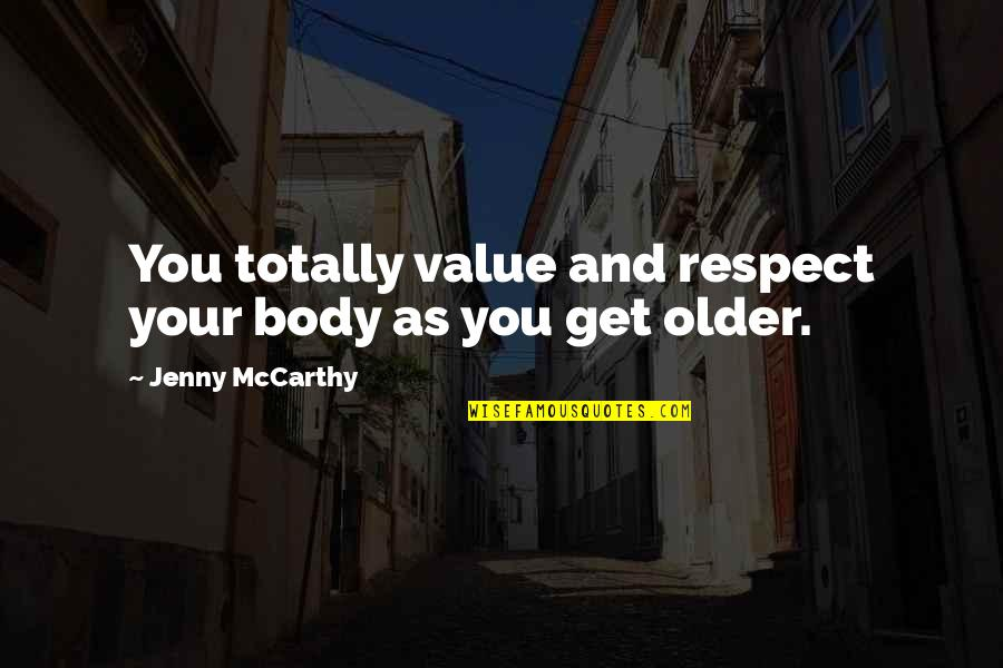 Famous Group Work Quotes By Jenny McCarthy: You totally value and respect your body as