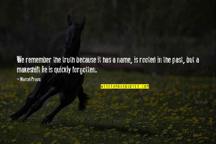 Famous Hermione Quotes By Marcel Proust: We remember the truth because it has a