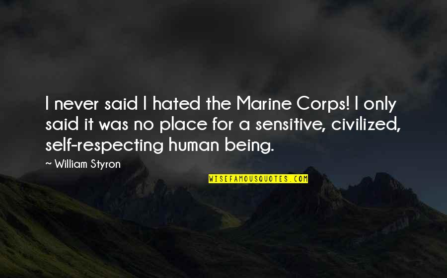 Famous Hermione Quotes By William Styron: I never said I hated the Marine Corps!