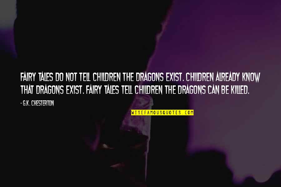 Famous Inspirational Management Quotes By G.K. Chesterton: Fairy tales do not tell children the dragons