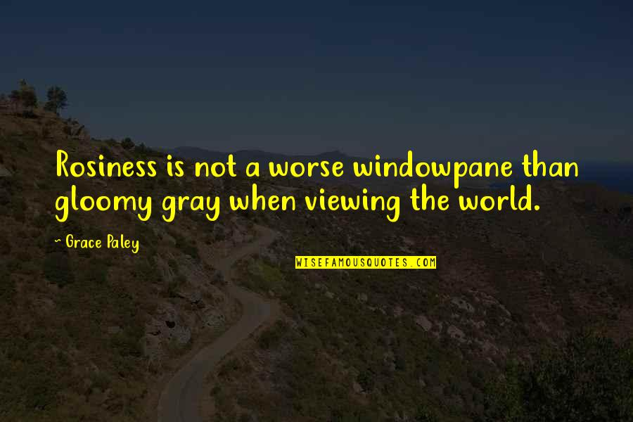 Famous Japanese Shogun Quotes By Grace Paley: Rosiness is not a worse windowpane than gloomy