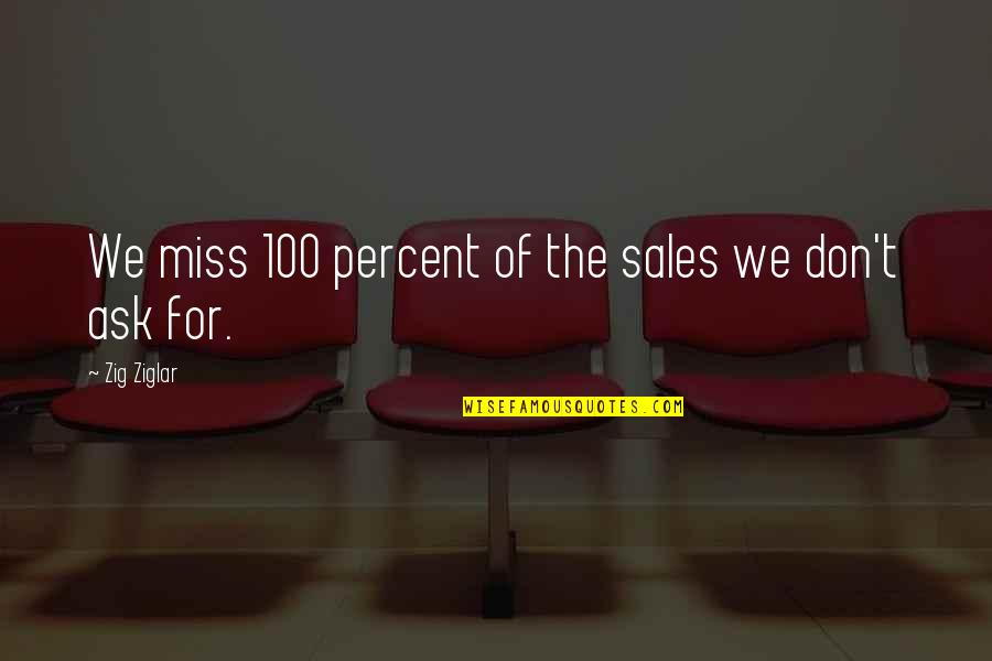 Famous Langenhoven Quotes By Zig Ziglar: We miss 100 percent of the sales we