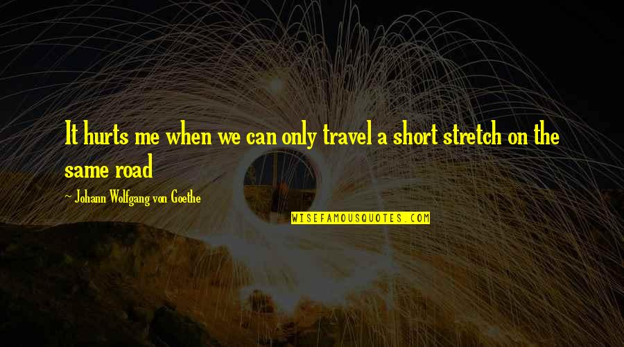 Famous Linebacker Quotes By Johann Wolfgang Von Goethe: It hurts me when we can only travel