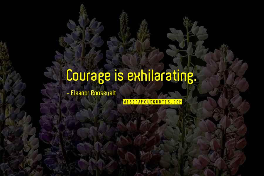 Famous Obama Campaign Quotes By Eleanor Roosevelt: Courage is exhilarating.