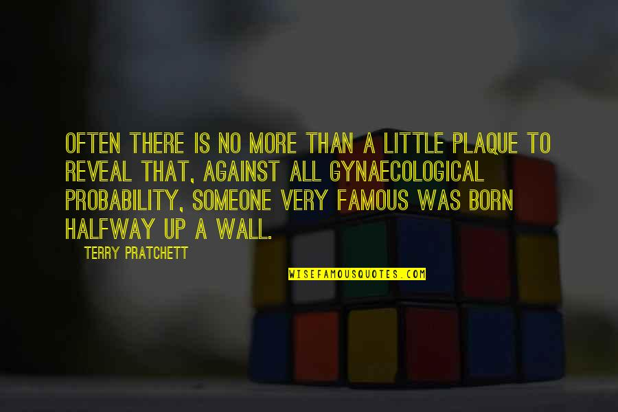 Famous Off The Wall Quotes By Terry Pratchett: Often there is no more than a little