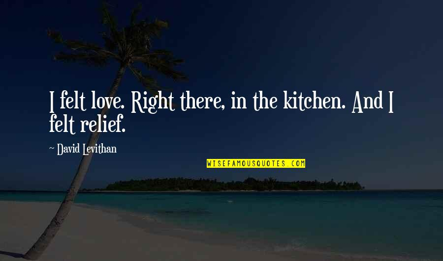 Famous Real Housewives Quotes By David Levithan: I felt love. Right there, in the kitchen.