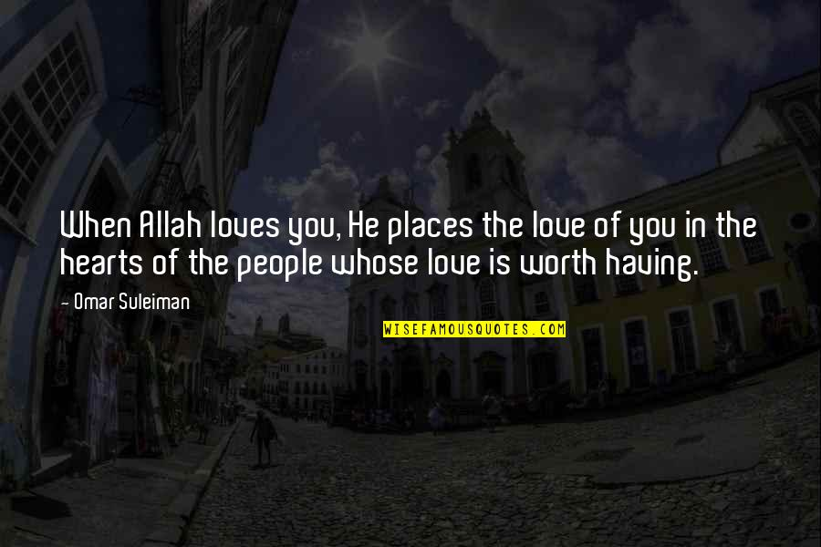 Famous Robert De Niro Film Quotes By Omar Suleiman: When Allah loves you, He places the love