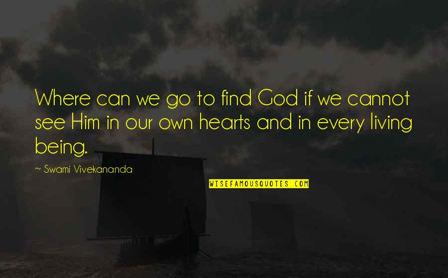 Famous Stefan Salvatore Quotes By Swami Vivekananda: Where can we go to find God if