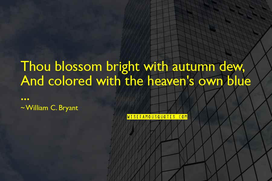 Famous Stefan Salvatore Quotes By William C. Bryant: Thou blossom bright with autumn dew, And colored