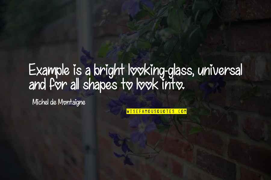 Famous Supreme Court Justice Quotes By Michel De Montaigne: Example is a bright looking-glass, universal and for