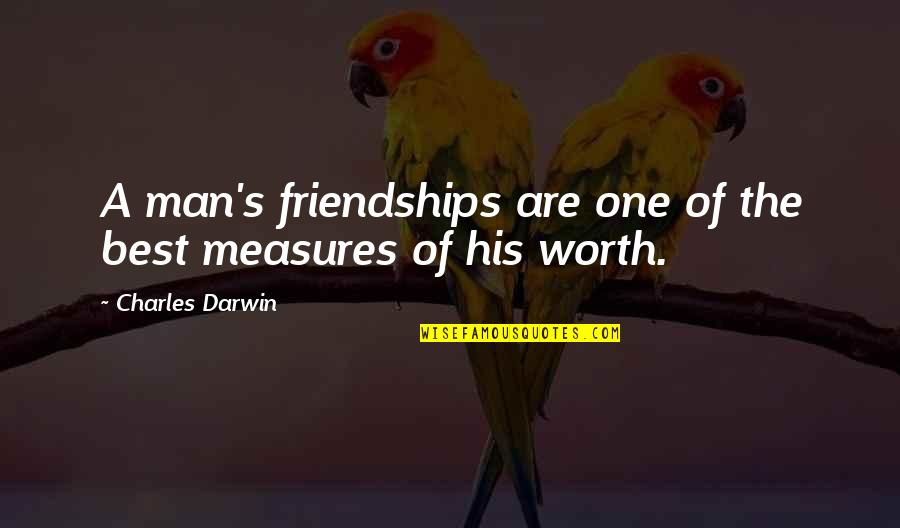 Famous Versailles Quotes By Charles Darwin: A man's friendships are one of the best